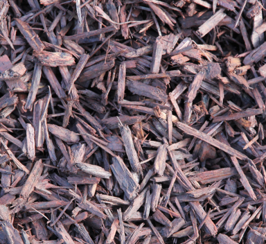 brown colored mulch