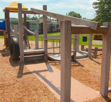 wooden playground set