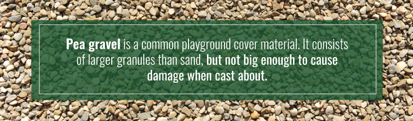 pea gravel is a common playground cover material