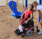 reike park woman with a girl in a wheelchair