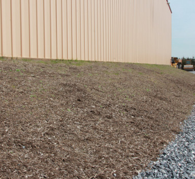 erosion control at construction site