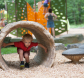 children playing at treman state park