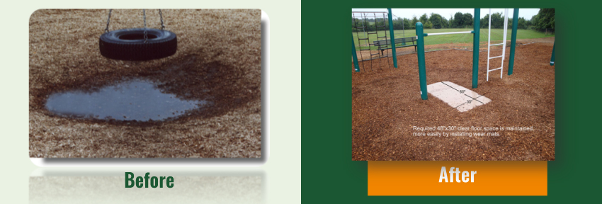 Engineered Wood Fiber Before And After