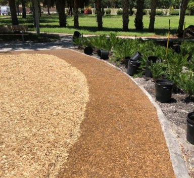 Bonded Woodcarpet 174 2 For Playground Pathways Zeager Bros